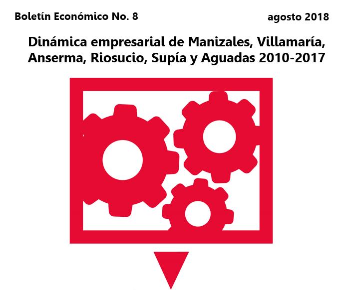 Dinámica empresarial de Manizales, Villamaría, Anserma, Riosucio, Supía y Aguadas 2010-2017