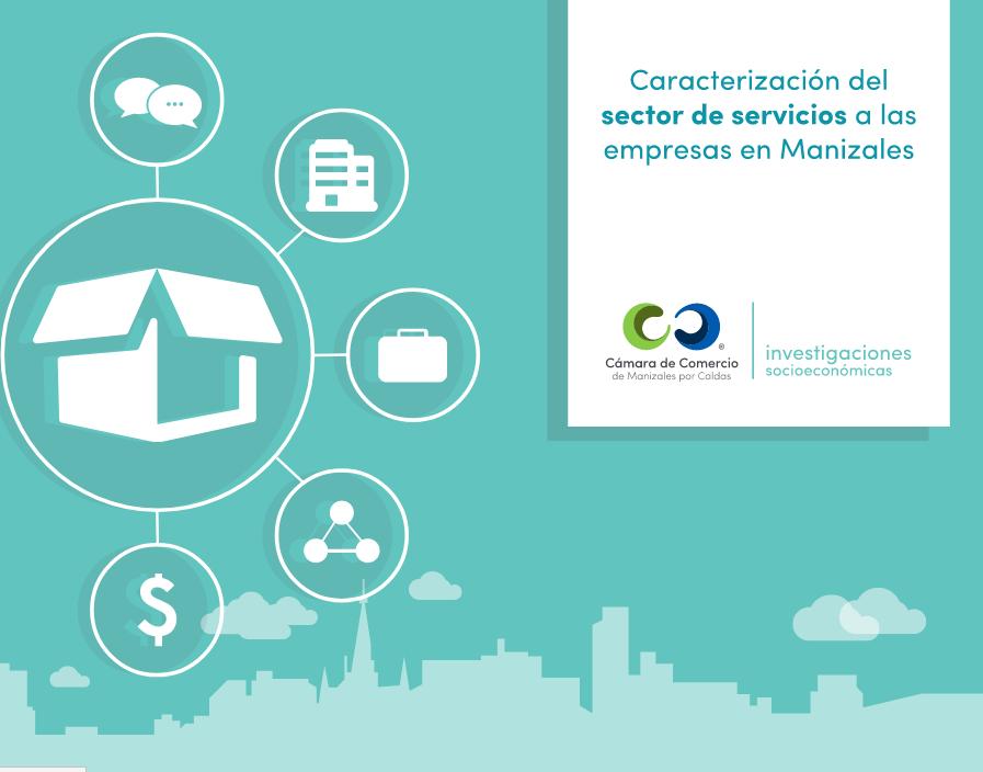 Infografía caracterización servicios a las empresas en Manizales (junio 2016)